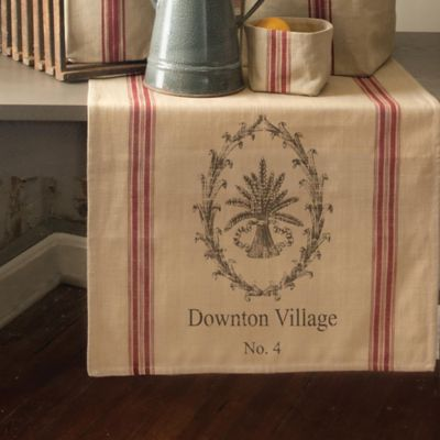 Downton Abbey® Downstairs Kitchen 54-Inch x 20-Inch Table Runner with Wheat