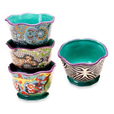 Tracy Porter® 5.75-Inch Ice Cream Bowl Set of 4 for Poetic Wanderlust® in Rose Boheme