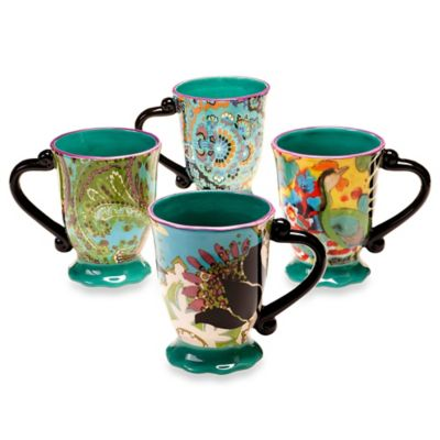 Tracy Porter® 16 oz. Mug Set of 4 for Poetic Wanderlust® in Rose Boheme