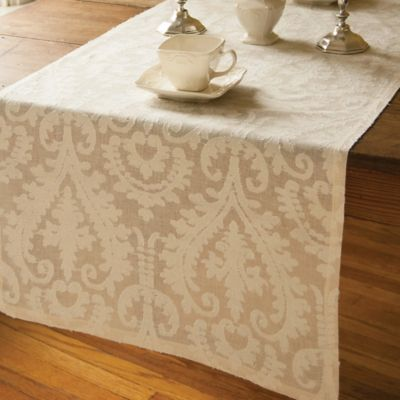 Downton Abbey® Duneagle Collection 100% Cotton 20-Inch x 72-Inch Table Runner in Natural