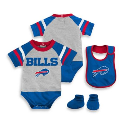 NFL Buffalo Bills Size 24M 3-Piece Creeper Bib and Bootie Set