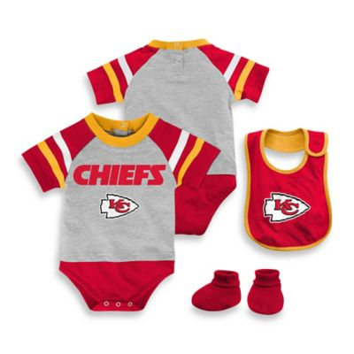 NFL Kansas City Chiefs Size 18M 3-Piece Creeper Bib and Bootie Set