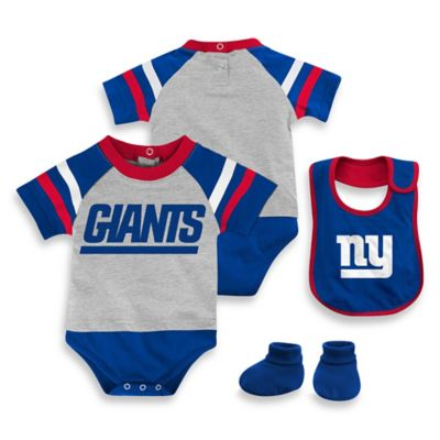 NFL New York Giants Size 24M 3-Piece Creeper Bib and Bootie Set