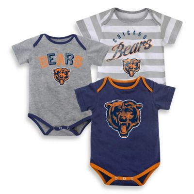 NFL Chicago Bears Size 24M 3-Pack Bodysuits