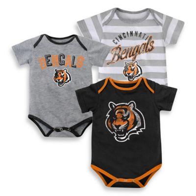 Size 24M 3-Pack Cincinnati Bengals Bodysuit Set