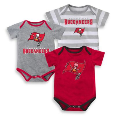 NFL Size 18M 3- Pack Tampa Bay Buccaneers Bodysuit Set