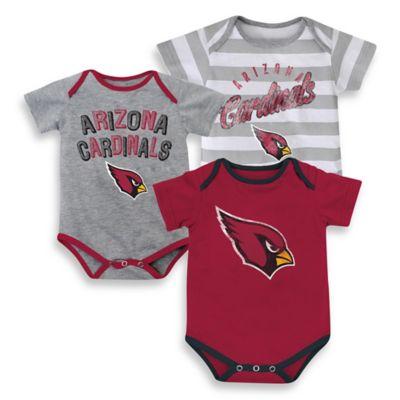 NFL 3-Pack Arizona Cardinals Bodysuit Set