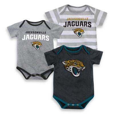 NFL Size 6-9M 3-Piece Jacksonville Jaguars Bodysuit Set