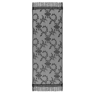 Downton Abbey® Yorkshire Collection Lace 60-Inch x 20-Inch Table Runner in Black