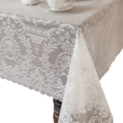 Downton Abbey® Grantham Collection Lace 62-Inch x 62-Inch Tablecloth