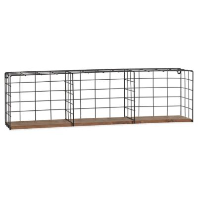 Wire Shelving Wall