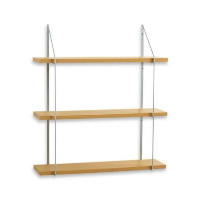Real Simple® Triple Wood/Metal Shelf
