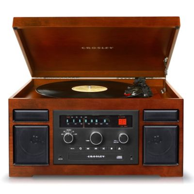 Crosley Patriarch 4-in-1 Entertainment Center in Mahogany