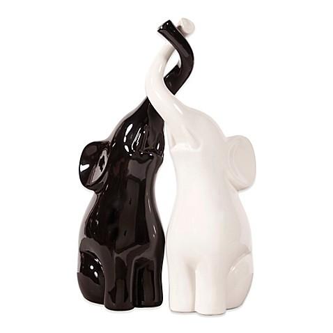 Buy howard elliott elephant love ceramic sculpture set for Elephant bathroom accessories