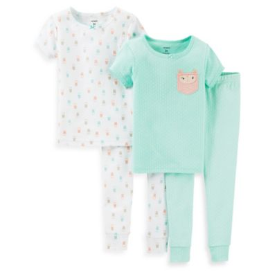 Carter's® Owl Size 12M 4-Piece PJs in Mint
