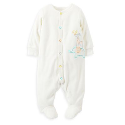 Carter's® Size 3M Jungle Animals Footie in Ivory