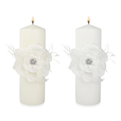 Ivy Lane Design Somerset Pillar Candle in Ivory