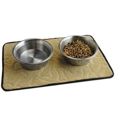 18-Inch x 12-Inch Bone Embossed Pet Mat in Taupe