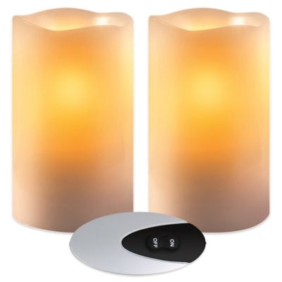 Loft Living Flameless Battery Operated Candles (Set of 2)