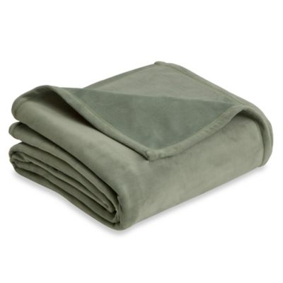 Vellux Plush Twin Blanket in Sage