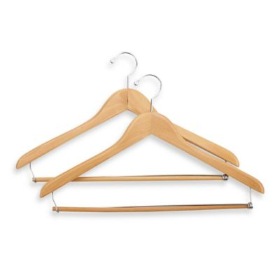 E-Z Do Deluxe 2-Pack Suit Hangers with Locking Trouser Bar