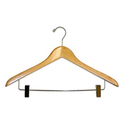 E-Z Do Deluxe 2-Pack Suit Hangers with Metal Bar and Padded Clips