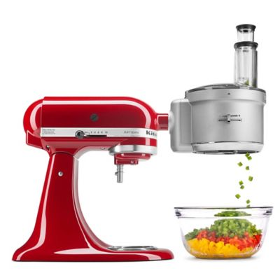 KitchenAid® Food Processor with Dicing Disc Stand Mixer Attachment in Stainless Steel