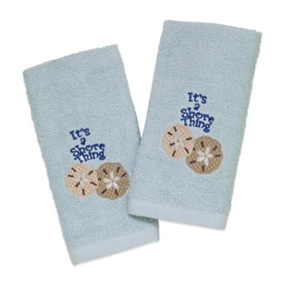 Avanti Shore Thing 2-Pack Fingertip Towels in Mineral