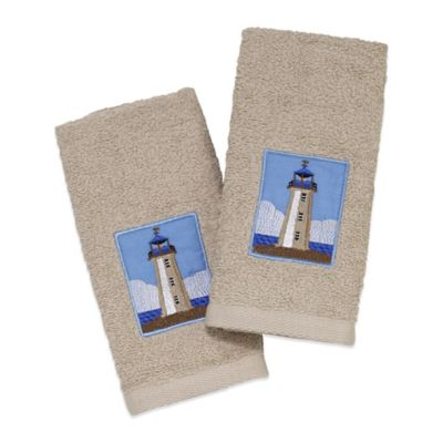Avanti Lighthouse Fingertip Towel in Ivory (Set of 2)