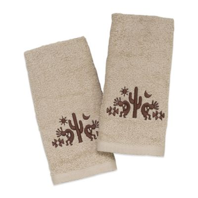 Avanti Kokopelli Festival Fingertip Towel in Ivory (Set of 2)