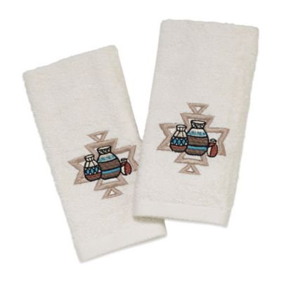 Avanti Pottery Fingertip Towel in Ivory (Set of 2)