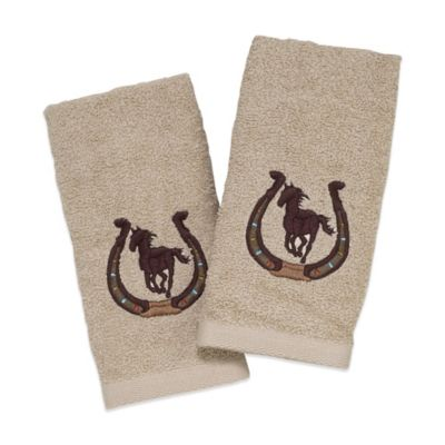 Avanti Horseshoe Fingertip Towel in Ivory (Set of 2)