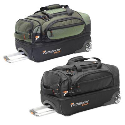 Pathfinder Gear Up 22-Inch Drop Bottom Wheeled Duffle in Black