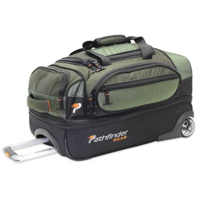 Pathfinder Gear Up 22-Inch Drop Bottom Wheeled Duffle in Olive