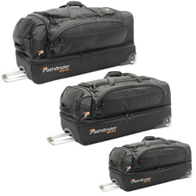 Pathfinder Gear Up 26-Inch Drop Bottom Wheeled Duffel in Black