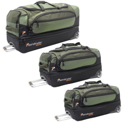 Pathfinder Gear Up 26-Inch Drop Bottom Wheeled Duffel in Olive