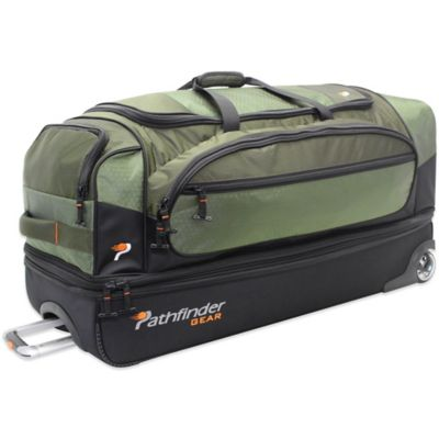 Pathfinder Gear Up 36-Inch Drop Bottom Wheeled Duffle in Olive