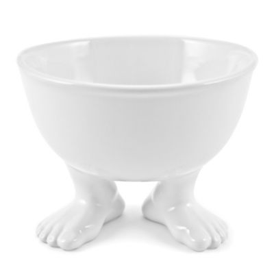 Dylan Kendall Medium Footed Dinner Bowl in White
