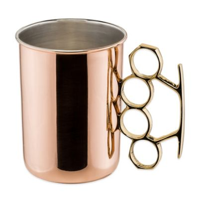 Old Dutch International Brass Knuckle Moscow Mule Mug in Solid Copper