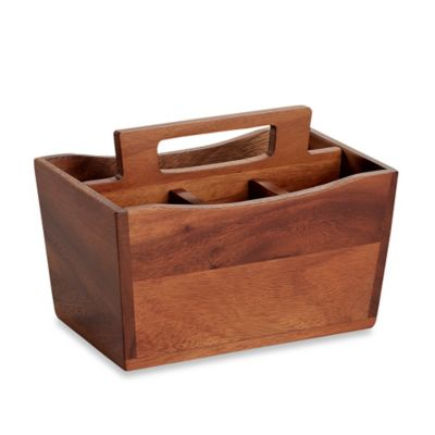 B. Smith 9.5-Inch Wooden Utensil Caddy