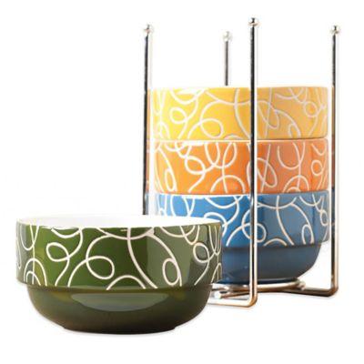 Tabletops Unlimited® Esto 5-Piece Stackable Bowl Set