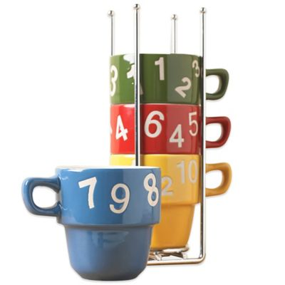 Tabletops Unlimited® Numbers 5-Piece Mug Tree Set