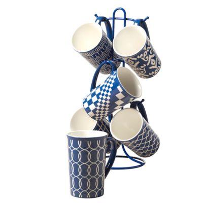 Tabletops Unlimited® 7-Piece Mug Tree Set in Cobalt