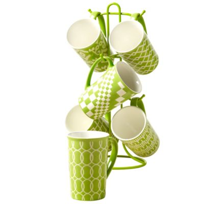 Tabletops Unlimited® 7-Piece Mug Tree Set in Lime