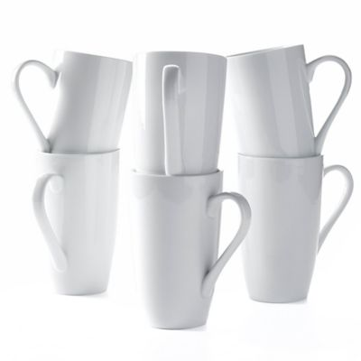 Tabletops Unlimited® 20 oz. Denmark Porcelain Latte Mugs (Set of 6)