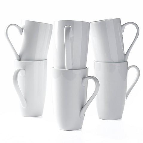 Tabletops Unlimited 174 20 Oz Denmark Porcelain Latte Mugs