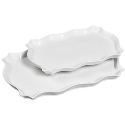 Denmark® Scalloped Serving Platters (Set of 2)