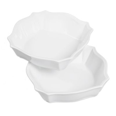 Denmark® Scalloped Square Serving Bowls (Set of 2)