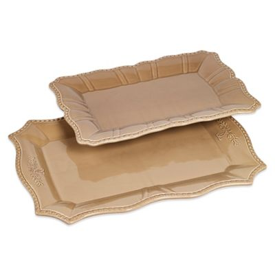 Tabletops Unlimited® Le Provence Graduated Platters (Set of 2)