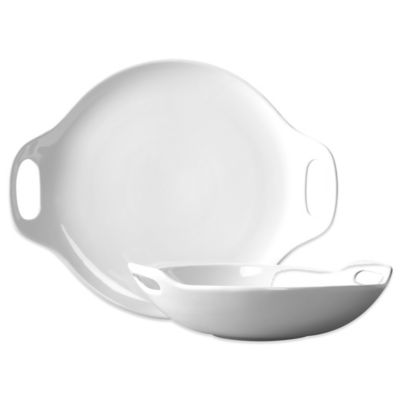 Tabletops Unlimited® Blanc de Blanc 2-Piece Bowl and Platter Set
